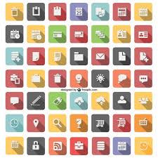 icones bureau gratuits icône plat set vector télécharger des vecteurs gratuitement
