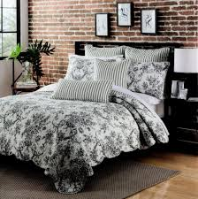 Toile Rugs Bedroom Nice Black And White Toile Bedding With Rug Ideas 10