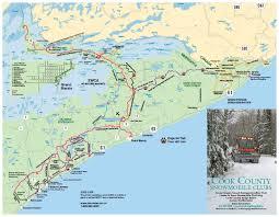 Bwca Map Snowmobile Rentals Gunflint Lodge