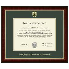 diploma frame murano diploma frame tuck school of business at dartmouth
