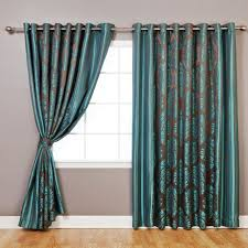 Blackout Curtains Small Window Curtains And Drapes Blue White Curtains For Small Windows