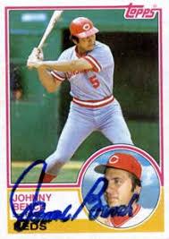 Johnny Bench Autograph Johnny Bench Baseball Stats By Baseball Almanac