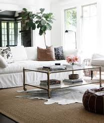 Cowhide Rug In Living Room Living Room With Acrylic Coffee Table Contemporary Living Room