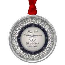 25th wedding anniversary christmas ornament and ornaments keepsake ornaments zazzle