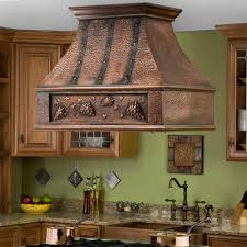 kitchen ventilation ideas kitchen 36 tuscan series copper island range grape motif