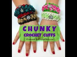 wrist cuff bracelet images Crochet wrist cuffs bracelet diy jpg