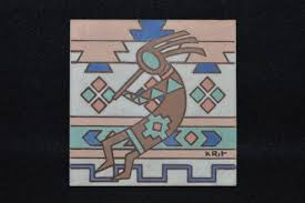 kokopelli decorative tile kokopelli native american symbol