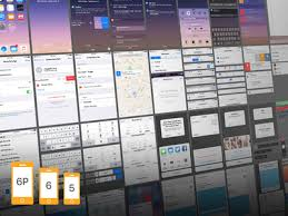 ios 9 complete ui free sketch psd for iphone 5 6 and 6 plus by