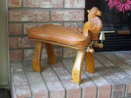 Antique Furniture In Northwest Indiana Mid Century Hand Carved Camel Stool Antique Camel Saddle Stool