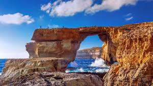 the azure window a natural stone arch near dwejra beach gozo