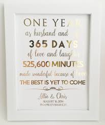 1st anniversary gift for husband gold foil print 1st anniversary gift for husband or