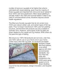 Synthetic Jute Rug Eco Friendly Rug Pads Reducing Voc U0027s In Your Home