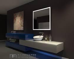 Lighted Bathroom Mirrors Dimmable Lighted Bathroom Mirror Galaxy 40 X 36 Ib Mirror