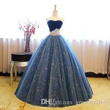 Ball Gown Halloween Costumes Royal Blue Crown Beading Waist Ball Gown Cosplay Medieval Dress