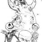 printable nightmare before christmas tim burton character coloring