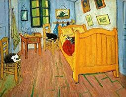 bedroom in arles amazon com cat art prints van gogh s bedroom in arles parody 8 1