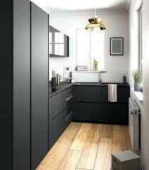 cuisine noir mat et bois deco cuisine noir stunning cuisine en bois noir photos
