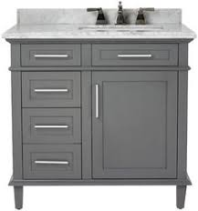 Grey Bathroom Vanity by Martha Stewart U0027s Cement Gray Which You Can Find At Home Depot