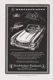 vintage cars 1950s 1957 mercedes benz ad mercedes 300 sl roadster 1950s car ad