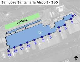 san jose airport gate map san jose santamaria sjo airport terminal map