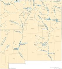map of new mexico lakes streams and rivers