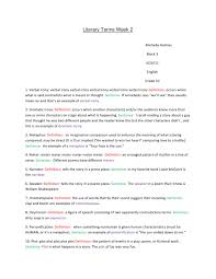 literary terms week 2 by michelle holmes issuu