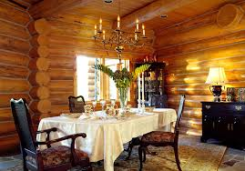 log home dining