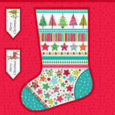 giant festive christmas stocking sewing kit overdale fabrics
