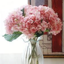 vintage centerpieces diy artificial hydrangea flower silk cloth plastic for party home