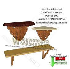 Free Wooden Shelf Bracket Plans by 05 Wp 092 2 Shelf Bracket Group 4 Downloadable Scrollsaw