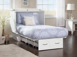 Twin Wall Bed Nantucket Murphy Bed Chest Bed White By Atlantic