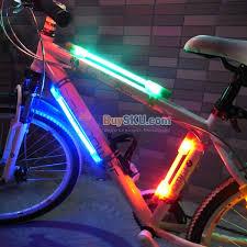 fiber optic tail lights flexible silicone bicycle bike 3 mode led safety warning fiber optic
