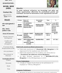 it resume format for experienced candidates simple in