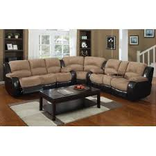 leather sectional sofa with recliner reclining sectionals you ll love wayfair