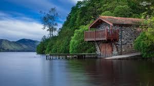 wallpaper cute house house by the lake hd wallpaper bighdwalls