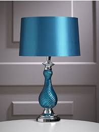 Teal Table Lamp Designer Teal Milan Bedside Lounge Home Office Table Lamp With