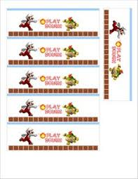super mario bros wii party printable food sweet table labels