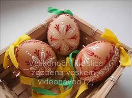 wax easter egg decorating velikonoční kraslice zdobená voskem videonávod 2 easter egg