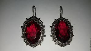 garnet earrings buy set of garnet earrings garnet signet ring brooch ussr vintage