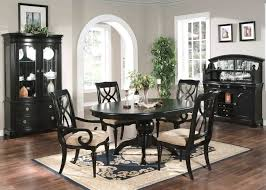 Oval Dining Room Table Black Wood Dining Room Set Inspiring Exemplary Black Wood Dining