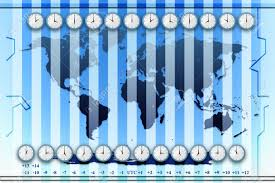 Global Time Zone Map Time Zones World Map Background Stock Photo Picture And Royalty