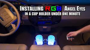 installing led lights in car how to install led cup holder lights in under 60 seconds youtube