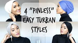 video tutorial turban style 4 easy turban styles no pins used youtube