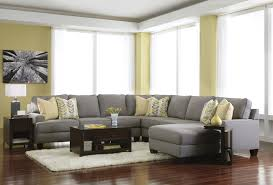 furniture grey tufted oversized sectionals sofa with ottoman for