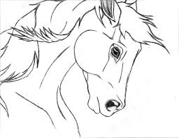 horse drawing hvgj clip art library