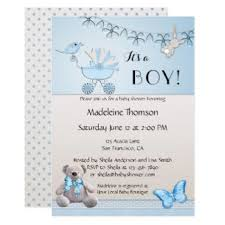 teddy baby shower invitations boy baby shower invitation featuring a soft teddy and