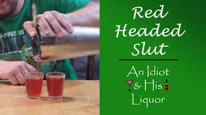 red headed mixed drink recipe with jagermeister youtube