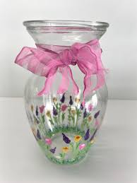 Glass Vase Painting Garden Vase Glass Painting Class Adults U0026 Teens Or Age 8 With An