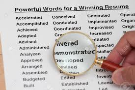 Words For Resumes 185 Powerful Resume Verbs Virtren Com