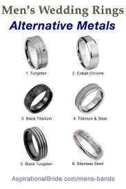 mens wedding ring guide men s wedding ring metal guide alternative wedding band metals are